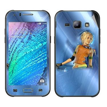 Snooky 48314 Digital Print Mobile Skin Sticker For Samsung Galaxy J1 - Blue