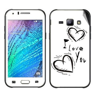 Snooky 48323 Digital Print Mobile Skin Sticker For Samsung Galaxy J1 - White
