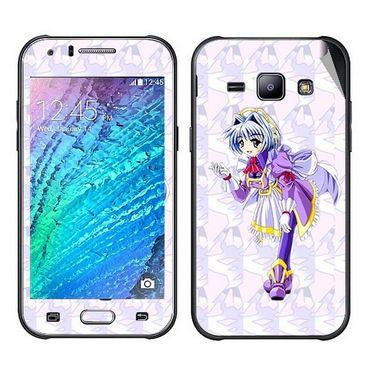 Snooky 48329 Digital Print Mobile Skin Sticker For Samsung Galaxy J1 - Purple