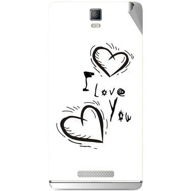 Snooky 48355 Digital Print Mobile Skin Sticker For Lava Iris Fuel 50 - White
