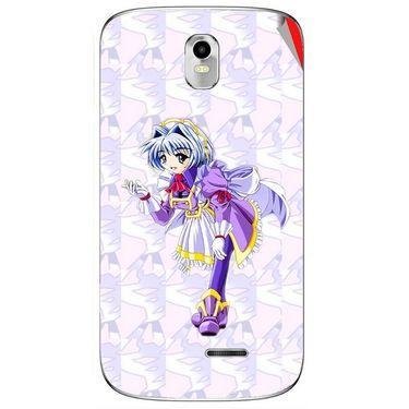 Snooky 48393 Digital Print Mobile Skin Sticker For Lava Iris 402 Plus - Purple