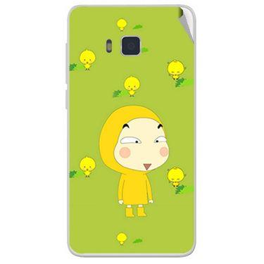 Snooky 48403 Digital Print Mobile Skin Sticker For Lava Iris 406Q - Green