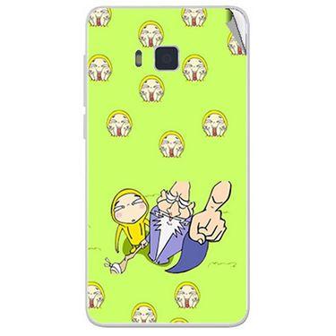 Snooky 48432 Digital Print Mobile Skin Sticker For Lava Iris 406Q - Green
