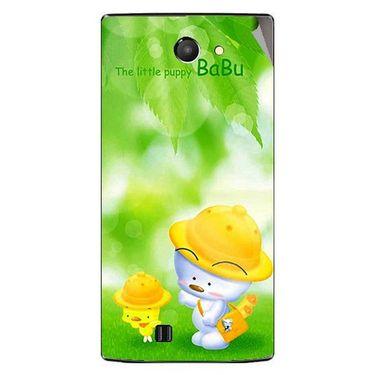 Snooky 48440 Digital Print Mobile Skin Sticker For Lava Iris 456 - Green