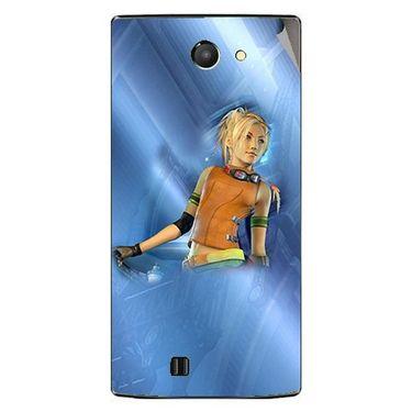 Snooky 48442 Digital Print Mobile Skin Sticker For Lava Iris 456 - Blue