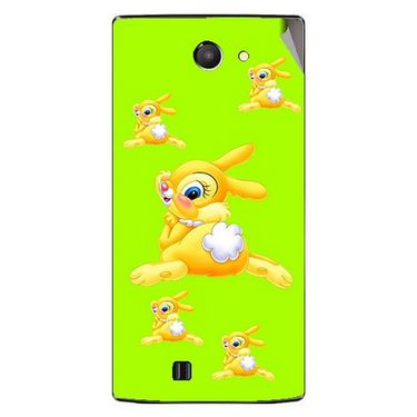 Snooky 48449 Digital Print Mobile Skin Sticker For Lava Iris 456 - Green