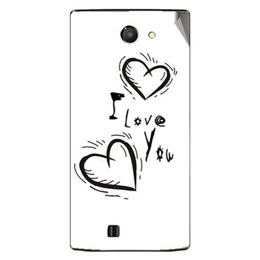 Snooky 48451 Digital Print Mobile Skin Sticker For Lava Iris 456 - White