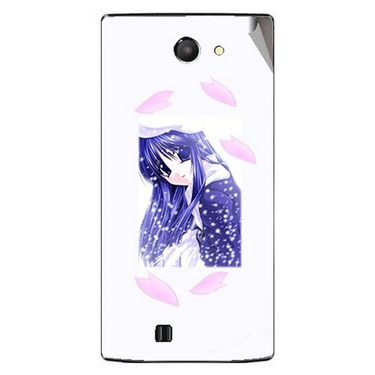Snooky 48461 Digital Print Mobile Skin Sticker For Lava Iris 456 - White