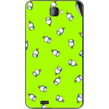Snooky 48480 Digital Print Mobile Skin Sticker For Lava Iris 502 - Green