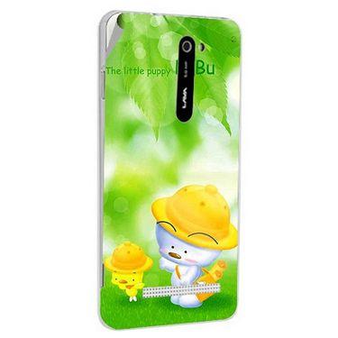 Snooky 48504 Digital Print Mobile Skin Sticker For Lava Iris 503 - Green
