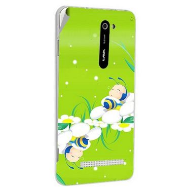 Snooky 48505 Digital Print Mobile Skin Sticker For Lava Iris 503 - Green