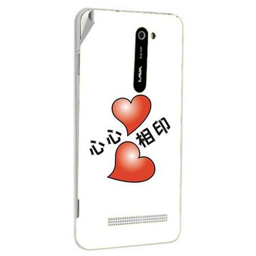 Snooky 48514 Digital Print Mobile Skin Sticker For Lava Iris 503 - White