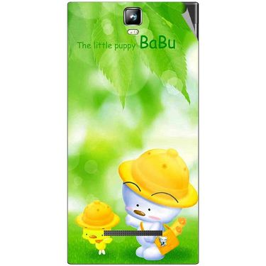Snooky 48536 Digital Print Mobile Skin Sticker For Lava Iris 504Q Plus - Green