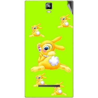 Snooky 48545 Digital Print Mobile Skin Sticker For Lava Iris 504Q Plus - Green