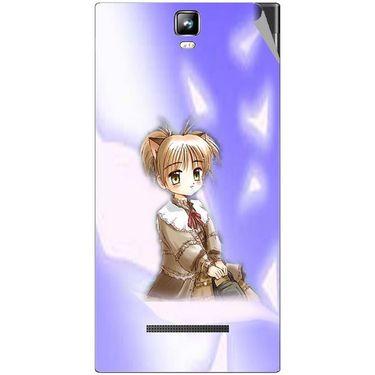 Snooky 48556 Digital Print Mobile Skin Sticker For Lava Iris 504Q Plus - Purple