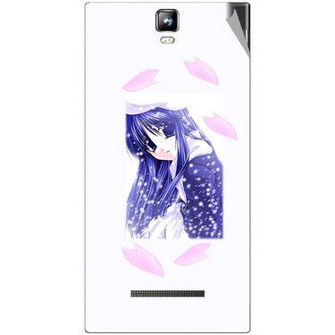 Snooky 48557 Digital Print Mobile Skin Sticker For Lava Iris 504Q Plus - White