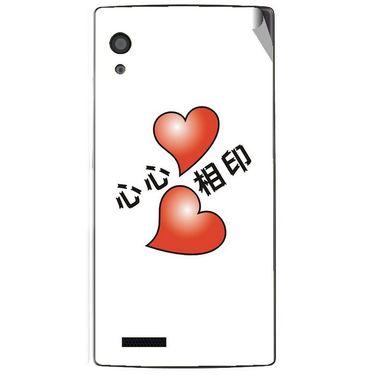 Snooky 48578 Digital Print Mobile Skin Sticker For Lava Iris Fuel 60 - White