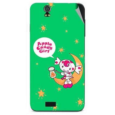 Snooky 48598 Digital Print Mobile Skin Sticker For Lava Iris selfie 50 - Green