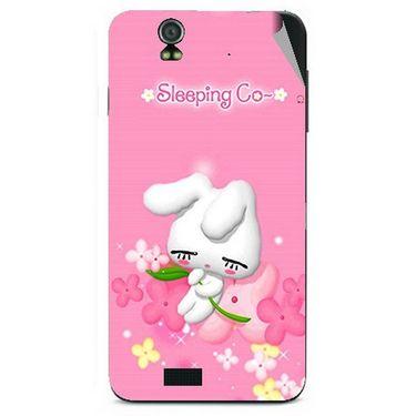 Snooky 48599 Digital Print Mobile Skin Sticker For Lava Iris selfie 50 - Pink