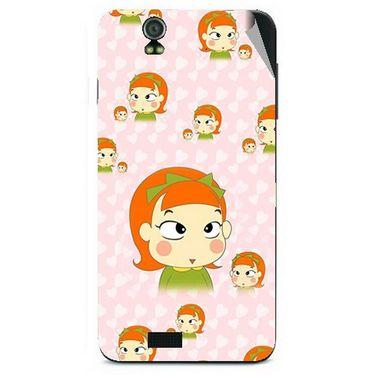 Snooky 48625 Digital Print Mobile Skin Sticker For Lava Iris selfie 50 - Orange