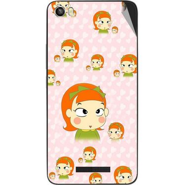 Snooky 48657 Digital Print Mobile Skin Sticker For Lava Iris X8 - Orange