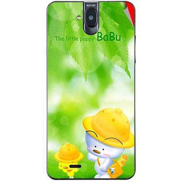 Snooky 48696 Digital Print Mobile Skin Sticker For Lava Iris 550Q - Green