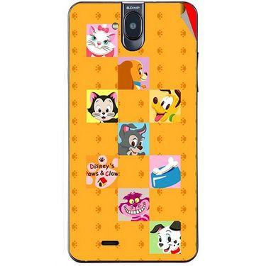 Snooky 48702 Digital Print Mobile Skin Sticker For Lava Iris 550Q - Yellow