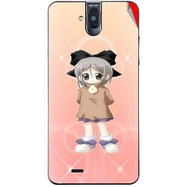 Snooky 48710 Digital Print Mobile Skin Sticker For Lava Iris 550Q - Orange