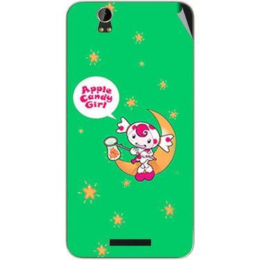 Snooky 48790 Digital Print Mobile Skin Sticker For Lava Iris X1 - Green