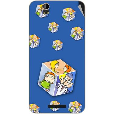 Snooky 48814 Digital Print Mobile Skin Sticker For Lava Iris X1 - Blue