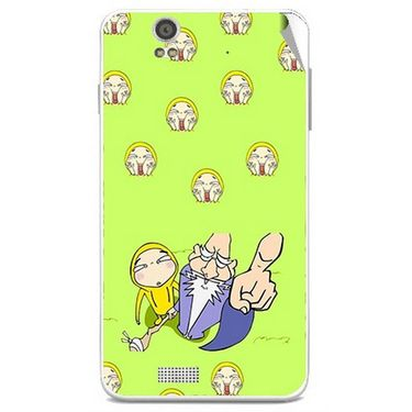Snooky 48848 Digital Print Mobile Skin Sticker For Lava Iris X5 - Green