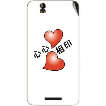 Snooky 48866 Digital Print Mobile Skin Sticker For Lava Iris X1 Grand - White