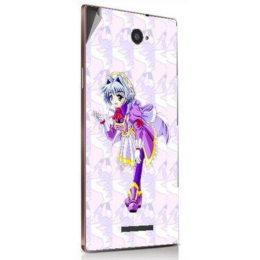 Snooky 48905 Digital Print Mobile Skin Sticker For Lava Magnum X604 - Purple