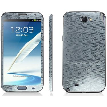 Snooky 18212 Mobile Skin Sticker For Samsung Galaxy Note 2 / N7100 - Silver