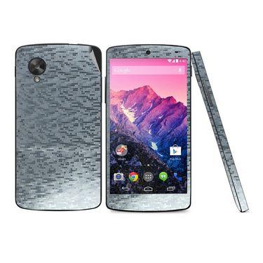 Snooky 18320 Mobile Skin Sticker For Lg Google Nexus 5 - Silver