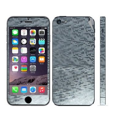 Snooky 18602 Mobile Skin Sticker For Apple Iphone 5s 5g - Silver