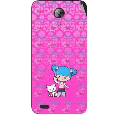 Snooky 42407 Digital Print Mobile Skin Sticker For Intex Aqua Style Mini - Pink