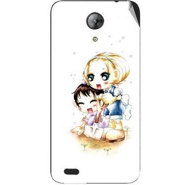 Snooky 42409 Digital Print Mobile Skin Sticker For Intex Aqua Style Mini - White