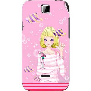 Snooky 42411 Digital Print Mobile Skin Sticker For Micromax Ninja 3.5 A54 - Pink