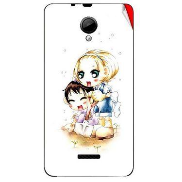 Snooky 42442 Digital Print Mobile Skin Sticker For Micromax Canvas Fun A76 - White