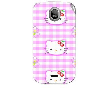 Snooky 42459 Digital Print Mobile Skin Sticker For Micromax Ninja A89 - Pink
