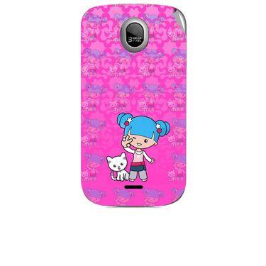 Snooky 42462 Digital Print Mobile Skin Sticker For Micromax Ninja A89 - Pink