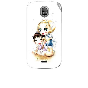 Snooky 42464 Digital Print Mobile Skin Sticker For Micromax Ninja A89 - White