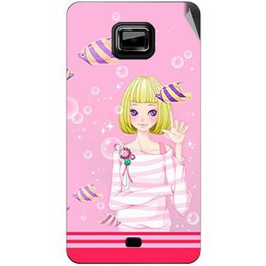 Snooky 42488 Digital Print Mobile Skin Sticker For Micromax Ninja A91 - Pink
