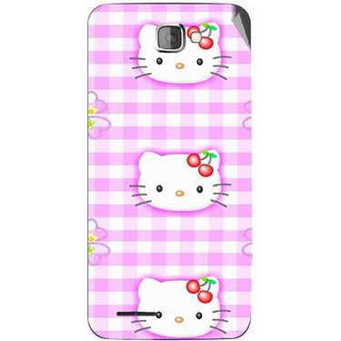 Snooky 42525 Digital Print Mobile Skin Sticker For Micromax Canvas Mad A94 - Pink