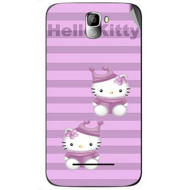 Snooky 42590 Digital Print Mobile Skin Sticker For Micromax Canvas Entice A105 - Pink