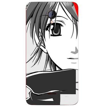 Snooky 42604 Digital Print Mobile Skin Sticker For Micromax Unite 2 A106 - Grey