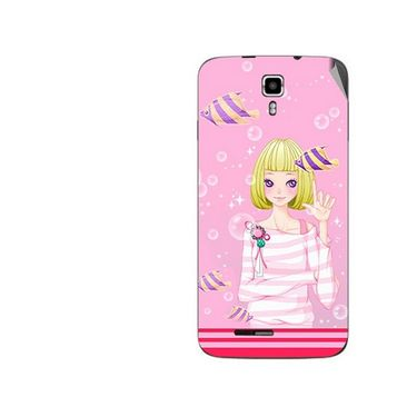 Snooky 42686 Digital Print Mobile Skin Sticker For Micromax Canvas Juice A177 - Pink