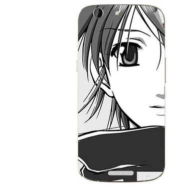Snooky 42747 Digital Print Mobile Skin Sticker For Micromax Canvas A300 - Grey