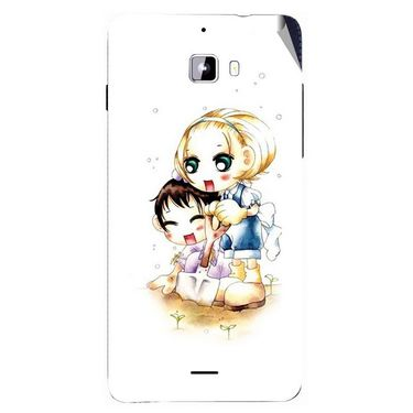 Snooky 42761 Digital Print Mobile Skin Sticker For Micromax Canvas Nitro A310 - White